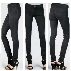 CURRENT/ELLIOTT Coated Black Jean Legging Jean
